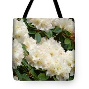 White Rhodies Landscape Floral Art Prints Canvas Baslee Troutman Tote Bag