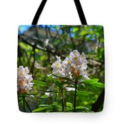 White Rhododendron Blooms Tote Bag