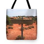White Rim Overlook Trail Signpost Tote Bag