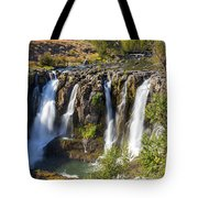 White River Falls In Tygh Valley Tote Bag