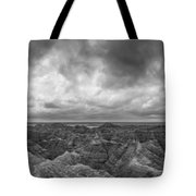 White River Valley Overlook Panorama 2 Bw Tote Bag