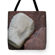 White Rock On Red Rock Number 1 Tote Bag