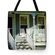 White Rocking Chairs Tote Bag