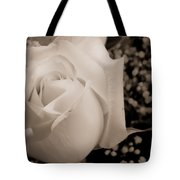 White Rose Bw Fine Art Photography Print Tote Bag