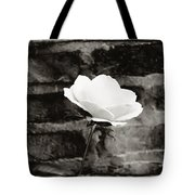 White Rose In Black And White Tote Bag
