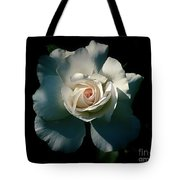 White Rose In The Shadows Tote Bag by Patricia Strand