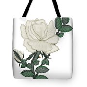 White Rose On A Winter Day Tote Bag