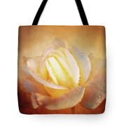 White Rose On Deep Texture Tote Bag