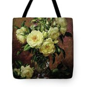 White Roses - A Gift From The Heart Tote Bag by Albert Williams