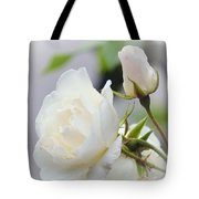 white Roses -2- Tote Bag by Issabild -