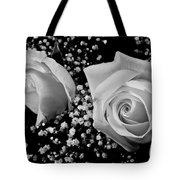 White Roses Bw Fine Art Photography Print Tote Bag