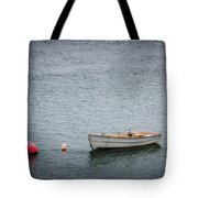 White Rowboat And Seagull Tote Bag