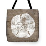 White Sand Dollar- Art By Linda Woods Tote Bag