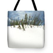White Sand Green Grass Blue Sky Tote Bag
