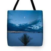 White Sands Moonrise Tote Bag