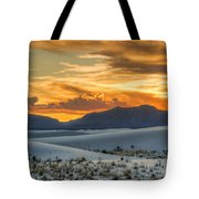White Sands Sunset - 4 - New Mexico Tote Bag