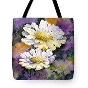 White Scabious Tote Bag