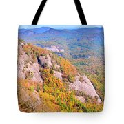 White Side Mountain Fool's Rock In Autumn Tote Bag