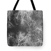 White Silhouetted Trees  Tote Bag