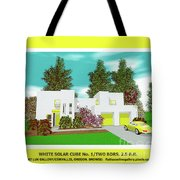 White Solar Cube Number One Tote Bag