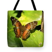 White Spotted Butterfly Tote Bag