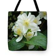 White Spring Blossom Tote Bag