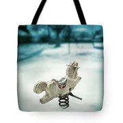 White Spring Horse Tote Bag