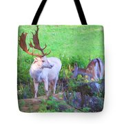 White Stag And Hind 2 Tote Bag
