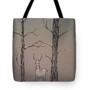 White Stag Tote Bag by Ginny Youngblood