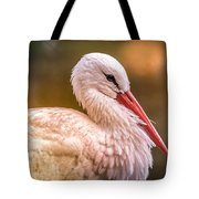 White Stork Tote Bag