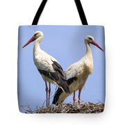 White Storks Tote Bag by Wim Lanclus