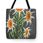 White Sunflowers Tote Bag