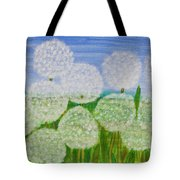White Sunflowers, Painting Tote Bag