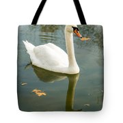 White Swan With Reflection Tote Bag