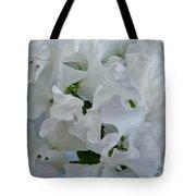 White Sweetpeas Tote Bag