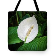 White Tail-flower Tote Bag