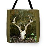 White-tailed Deer Skull In The Woods Tote Bag