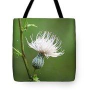 White Thistle Flower Tote Bag