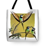 White Throated Bee Eater Pf Tote Bag