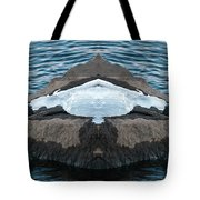 White-throated Dipper Mirrored Tote Bag