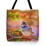 White Throated Sparrow - Digital Paint 3 Tote Bag