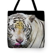White Tiger Closeup Tote Bag