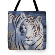 White Tiger - Crystal Eyes Tote Bag