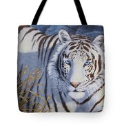 White Tiger - Crystal Eyes Tote Bag by Crista Forest