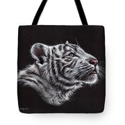 White Tiger Cub Tote Bag