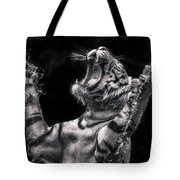 White Tiger Featured In Greece Exhibition Tote Bag