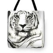 White Tiger Portrait Tote Bag