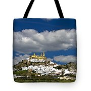 White Town Of Olvera, Andalusia, Spain Tote Bag