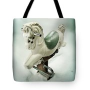 White Toy Horse Tote Bag