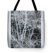 White Tree Black Night Tote Bag